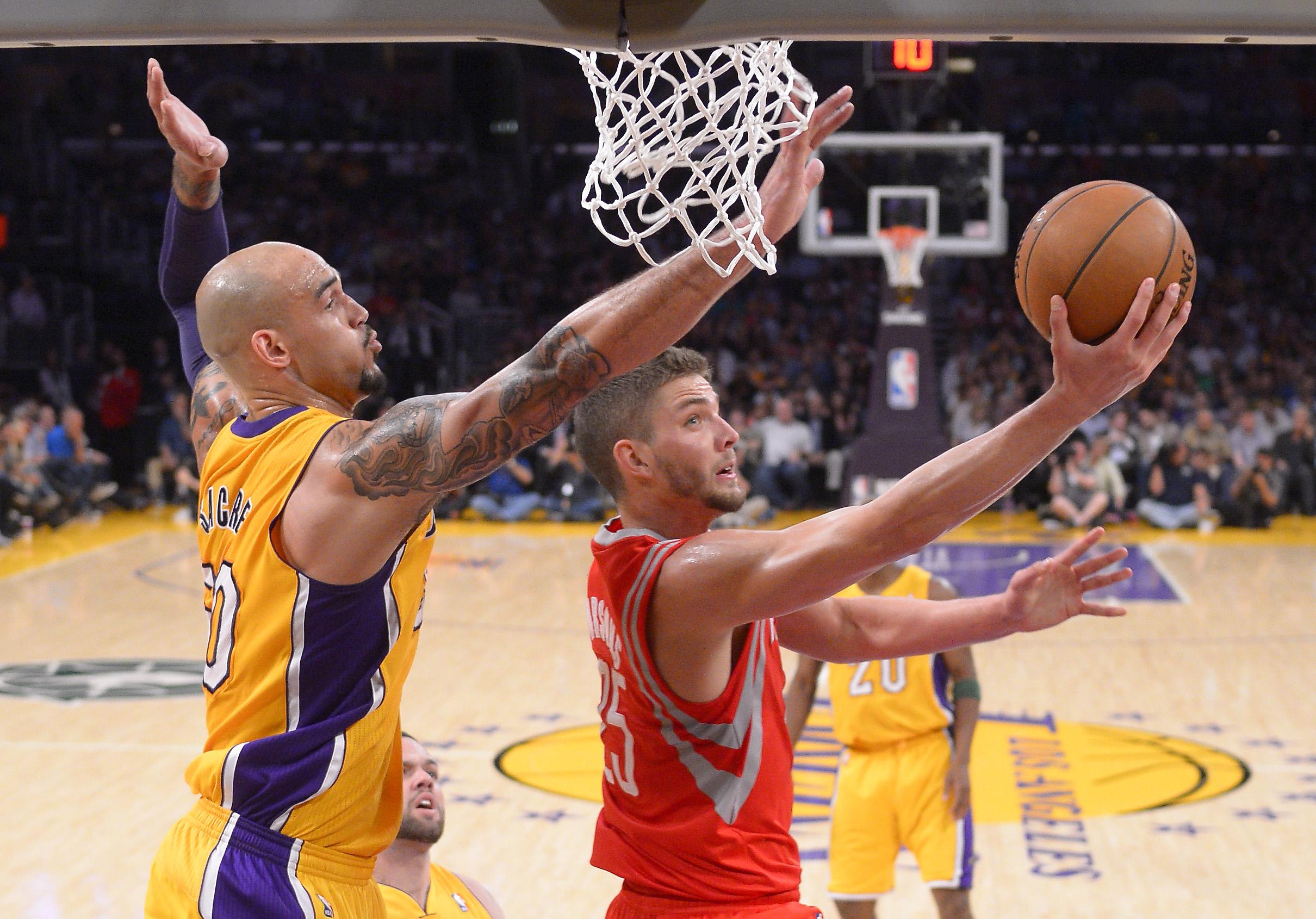 Jones, Harden lead Rockets past Lakers 145-130