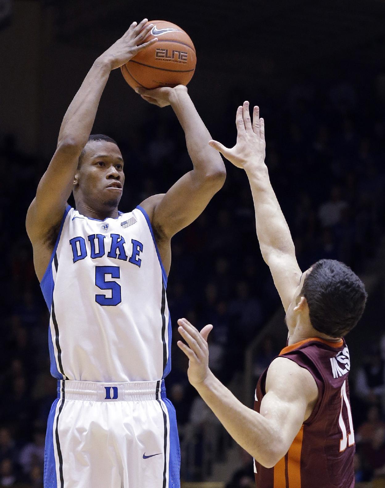 Duke sophomore Rodney Hood entering NBA draft