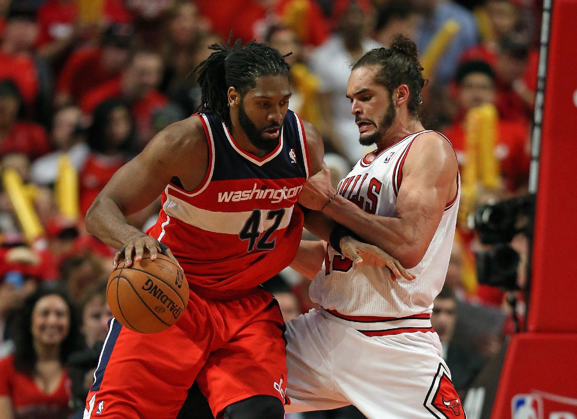 Nene dominates, Wizards rally past Bulls, 102-93