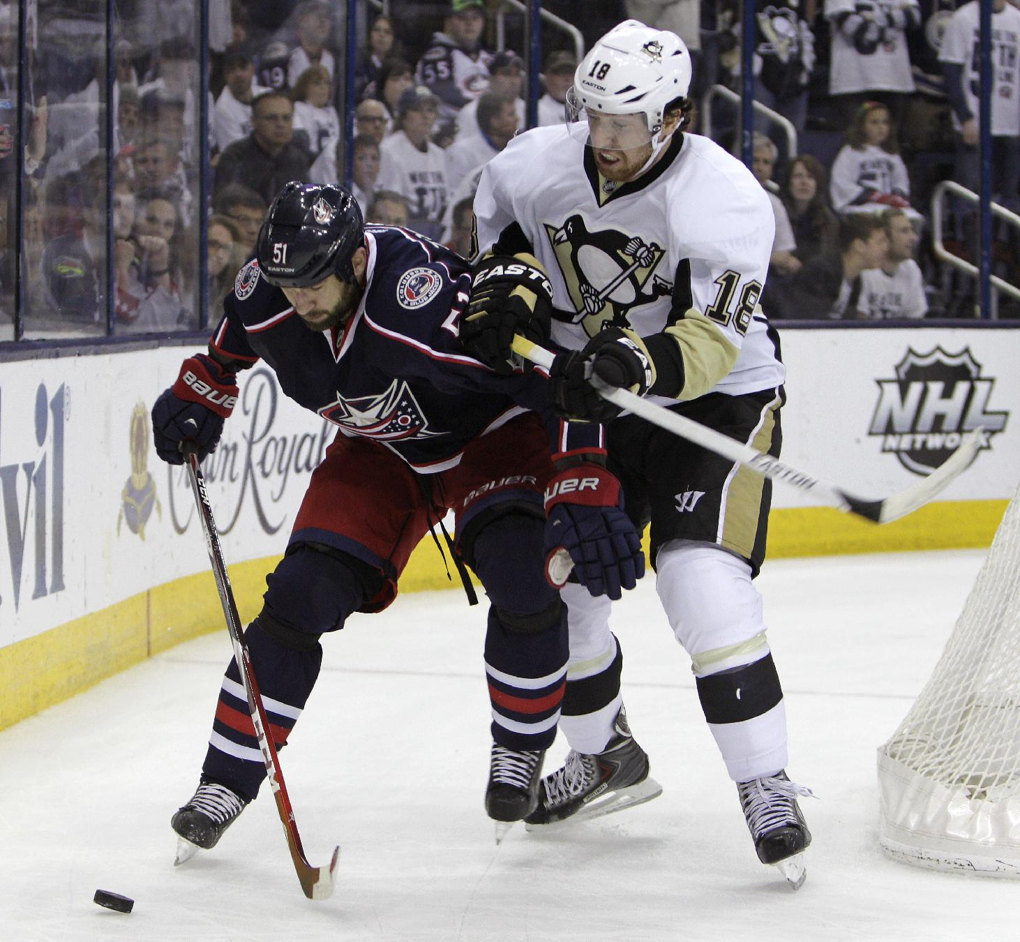 Pens advance after wild series vs Blue Jackets