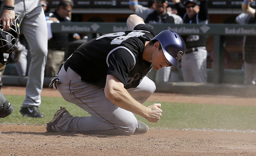 Morneau's big hit gives Rockies 8-7 win vs Giants
