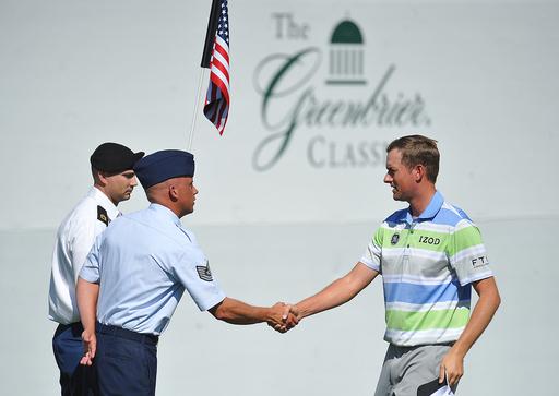 Navy vet Billy Hurley takes Greenbrier lead