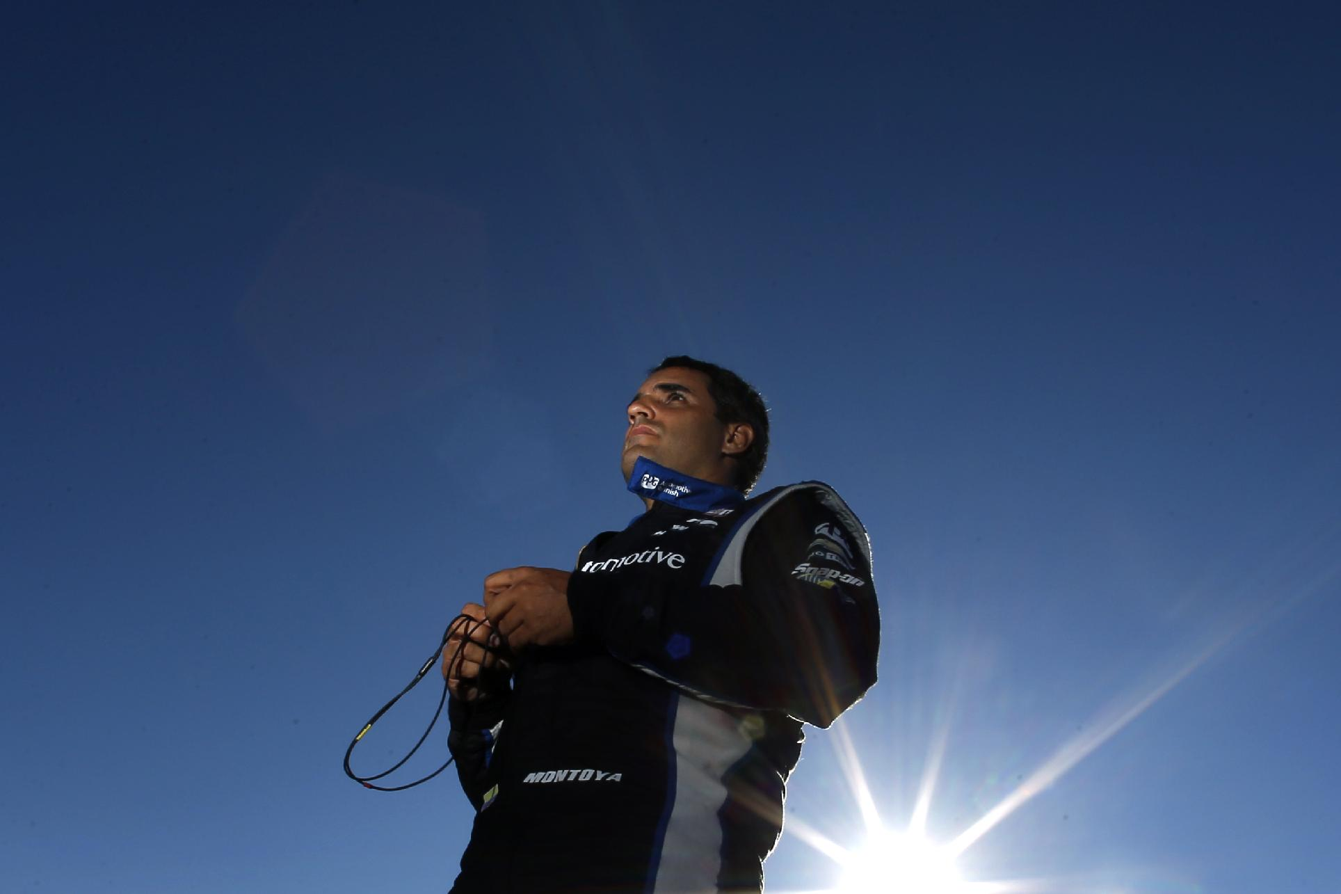 Montoya wins 1st IndyCar pole at Pocono Raceway