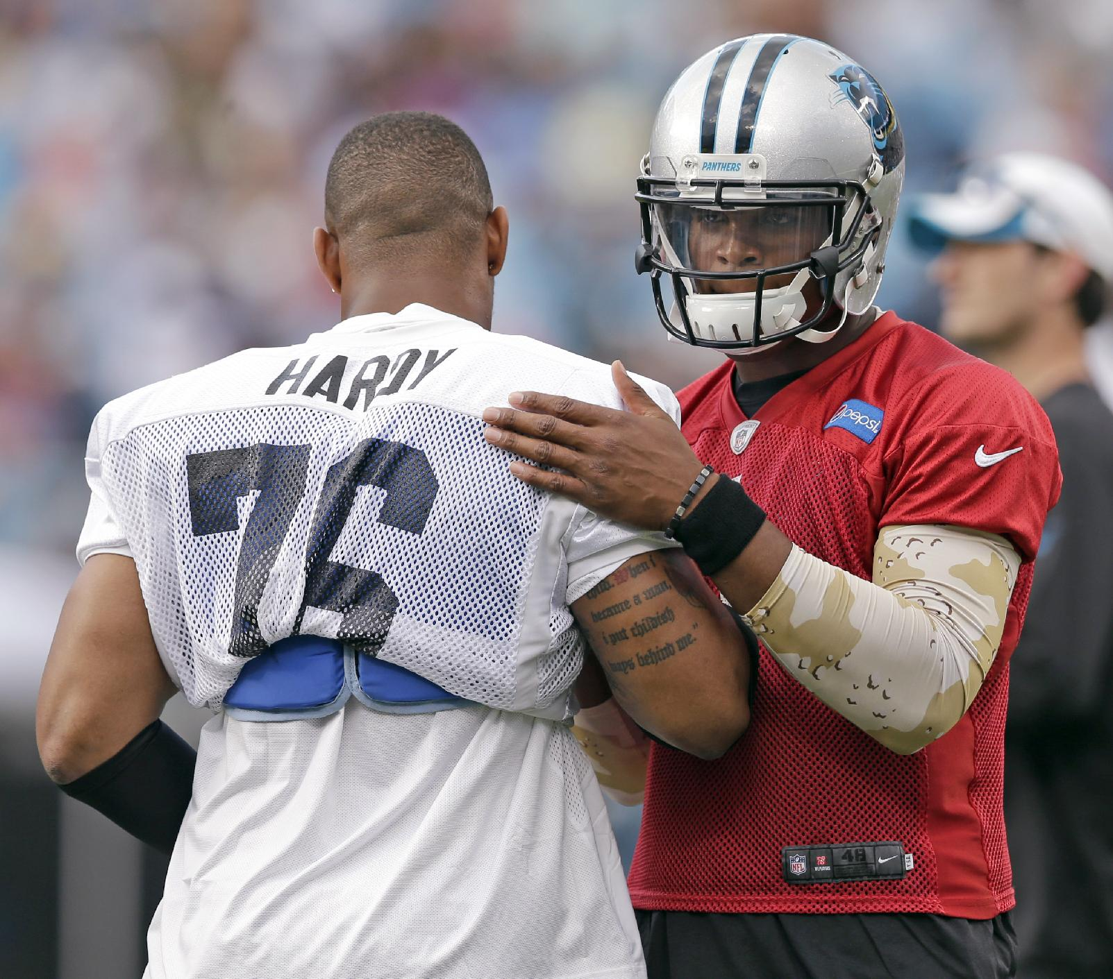 Panthers QB Newton practices, not 100 percent yet