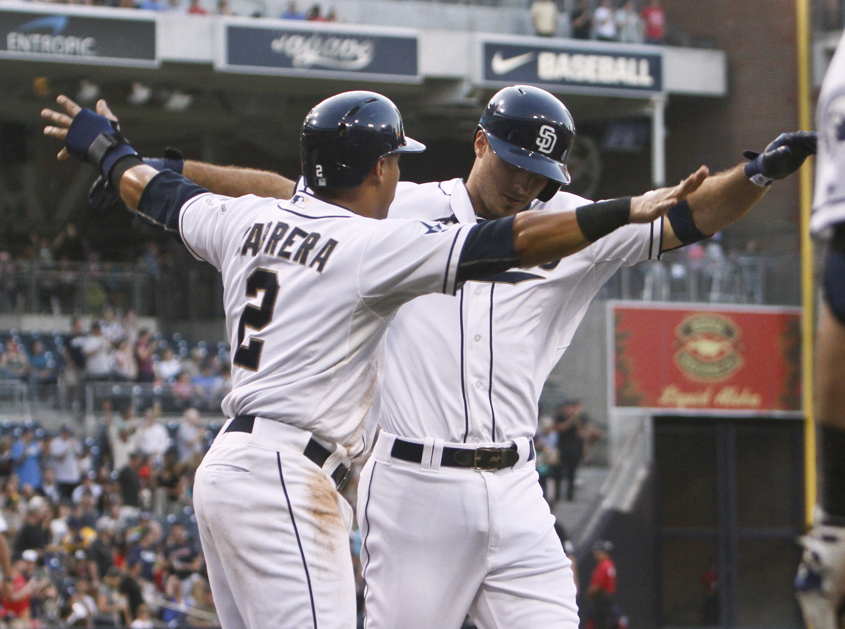 Medica has 5 hits, 2 homers in Padres' 10-1 win