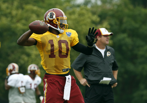 RG3 reflects on ups and downs at Redskins camp