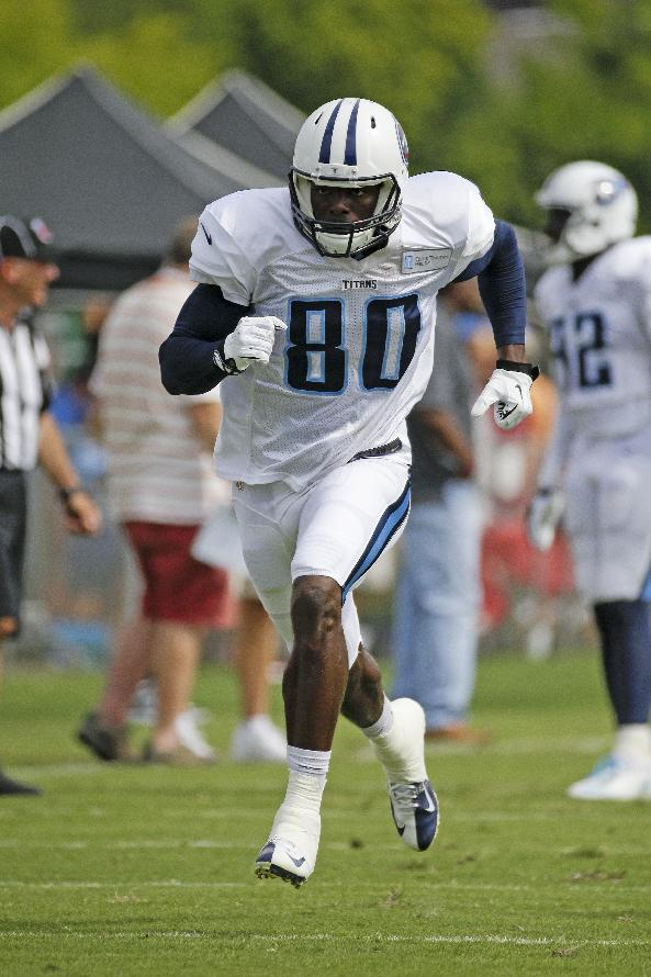 Receiver hopes to stick with Titans after year off