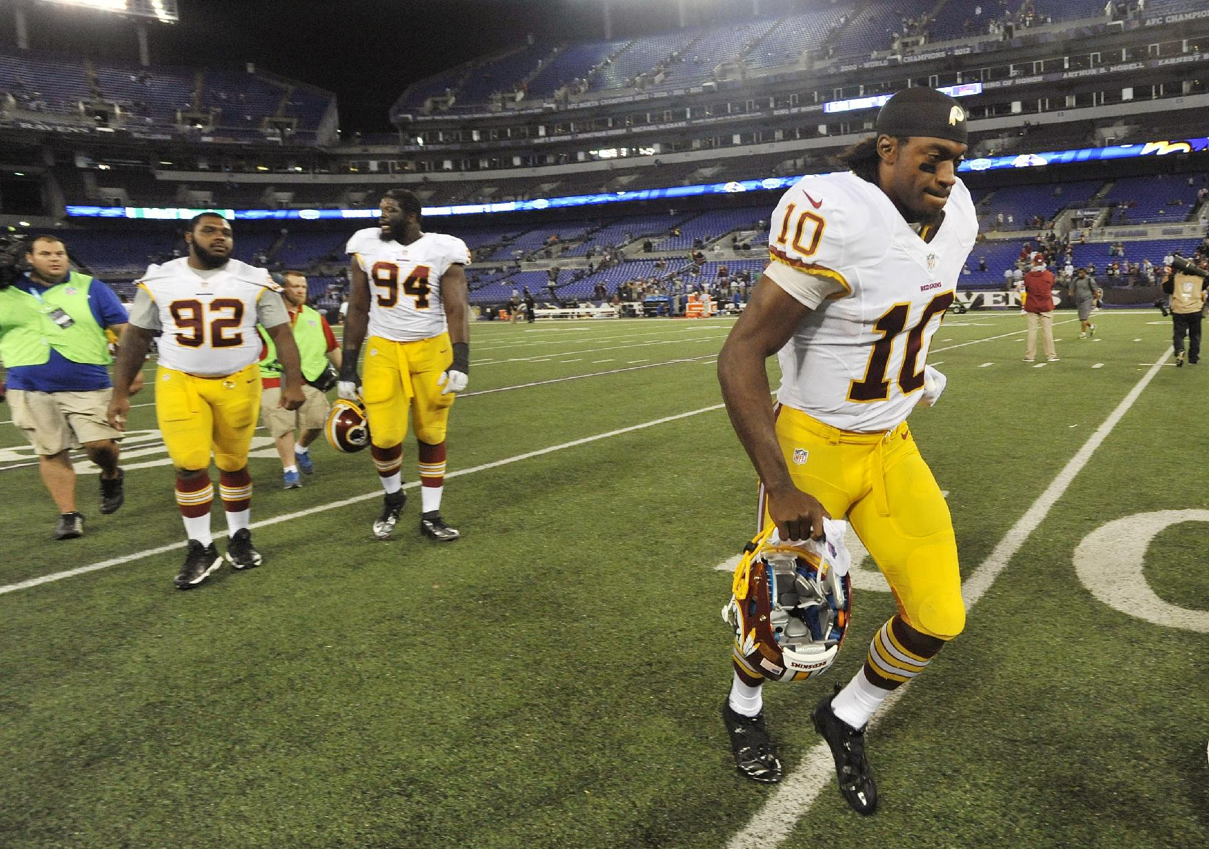 Redskins' RG3 might play in preseason finale