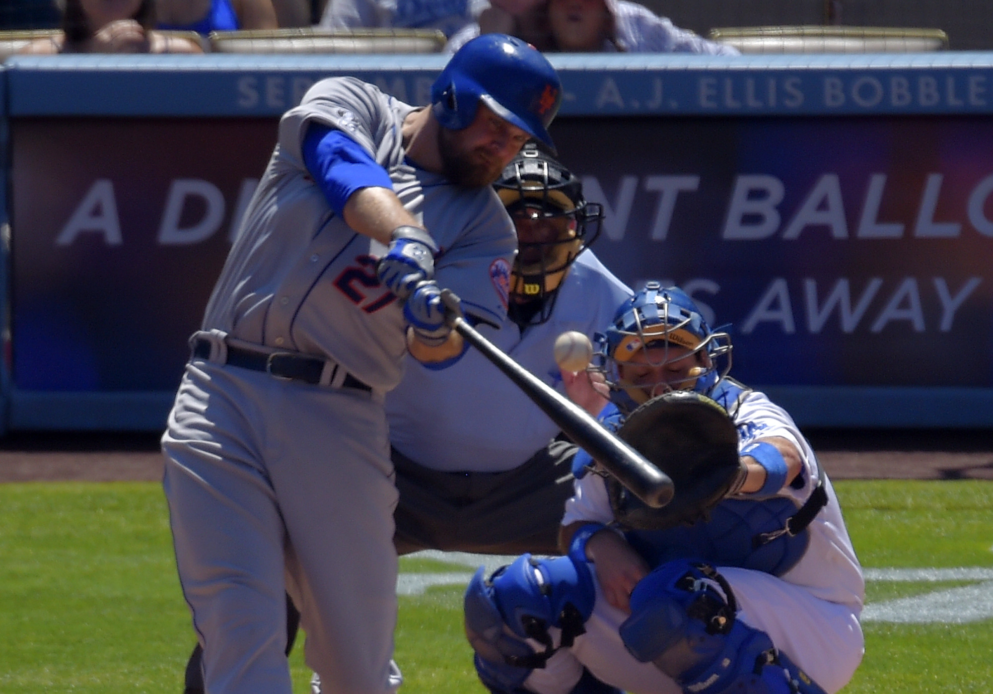 Mets turn triple play in 11-3 win over Dodgers