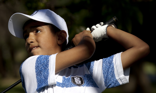 Golf prodigy began by swinging a broken broomstick