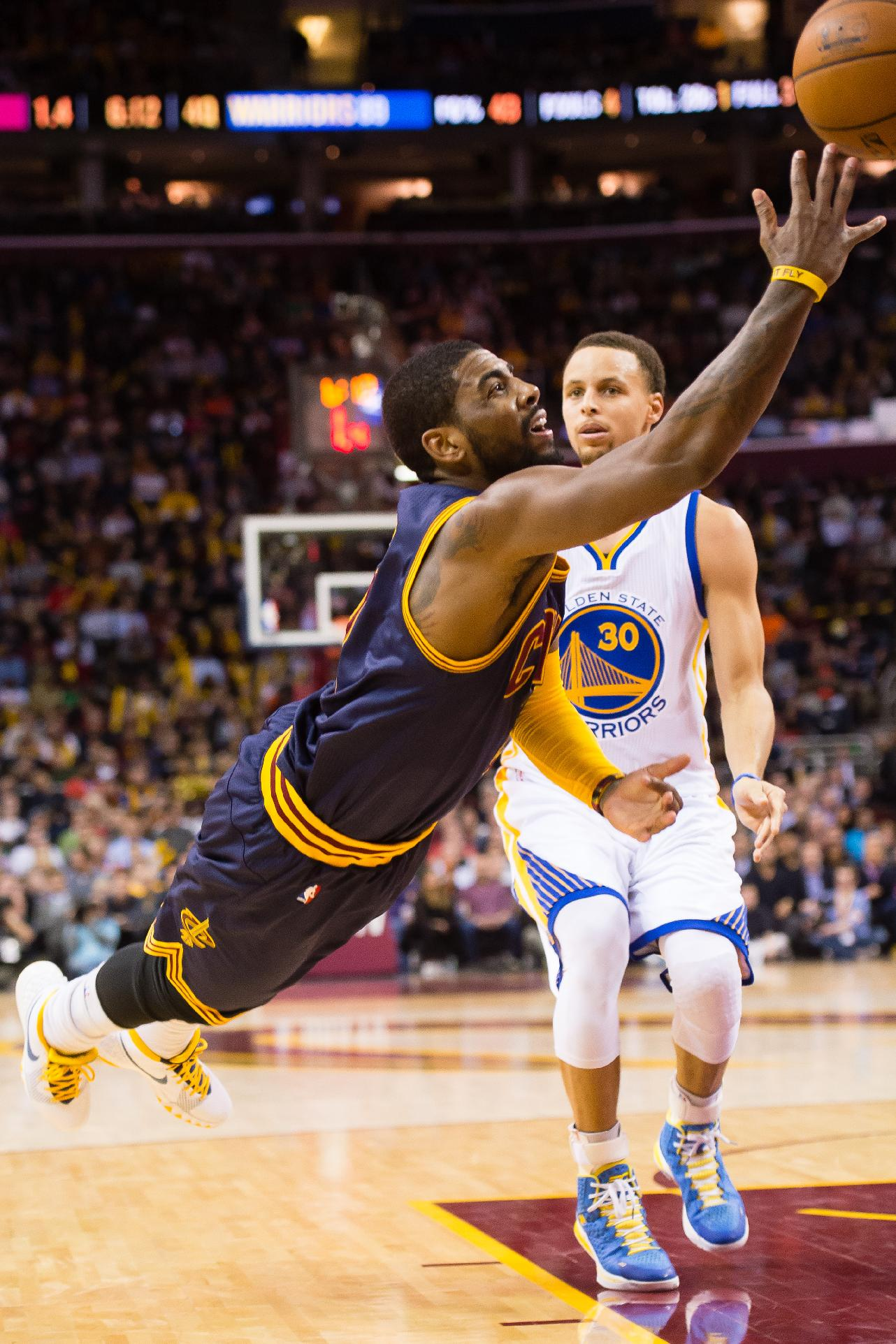 Cavs guard Irving to miss game with strained shoulder
