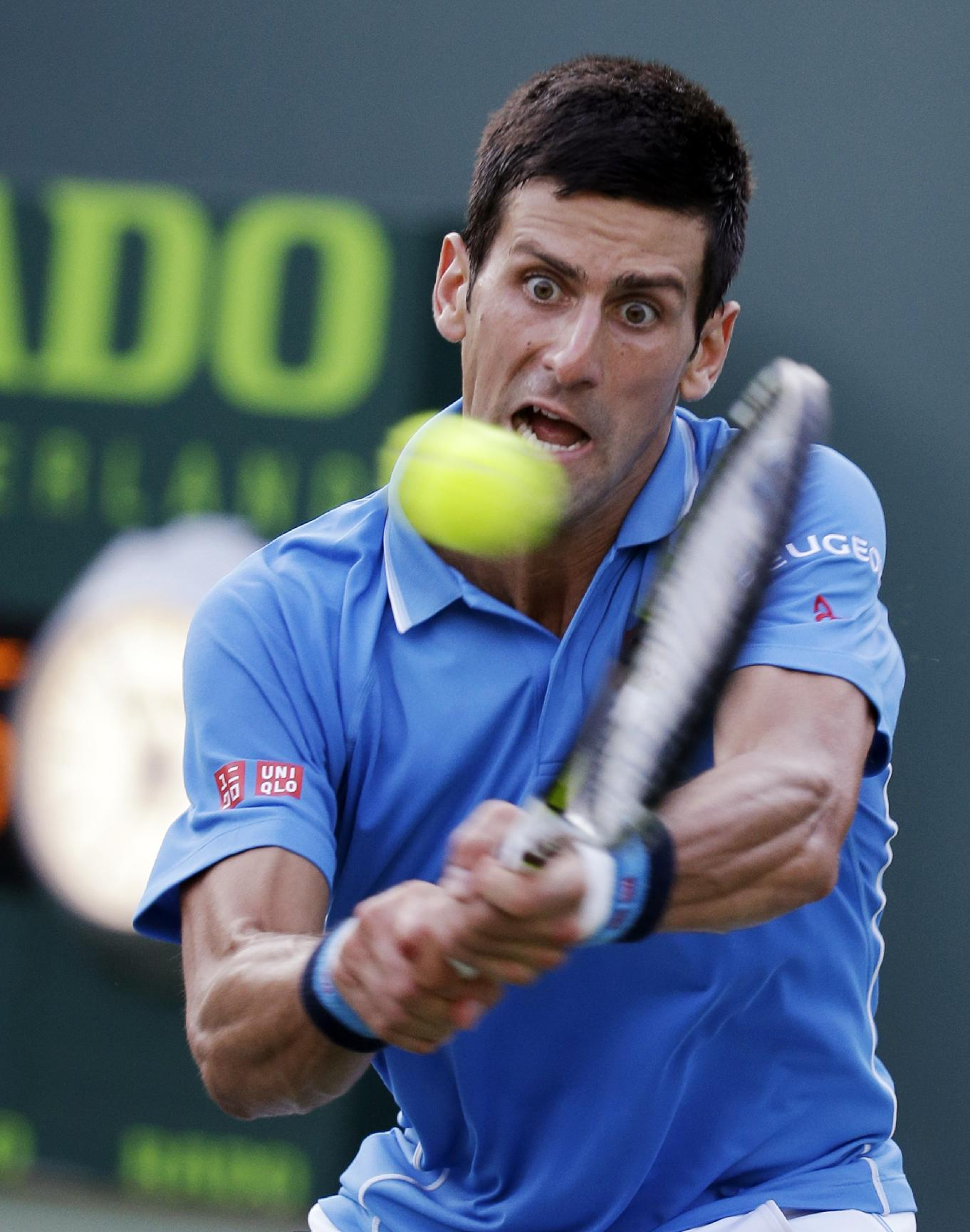 Djokovic defeats Dolgopolov in Miami; Venus Williams loses