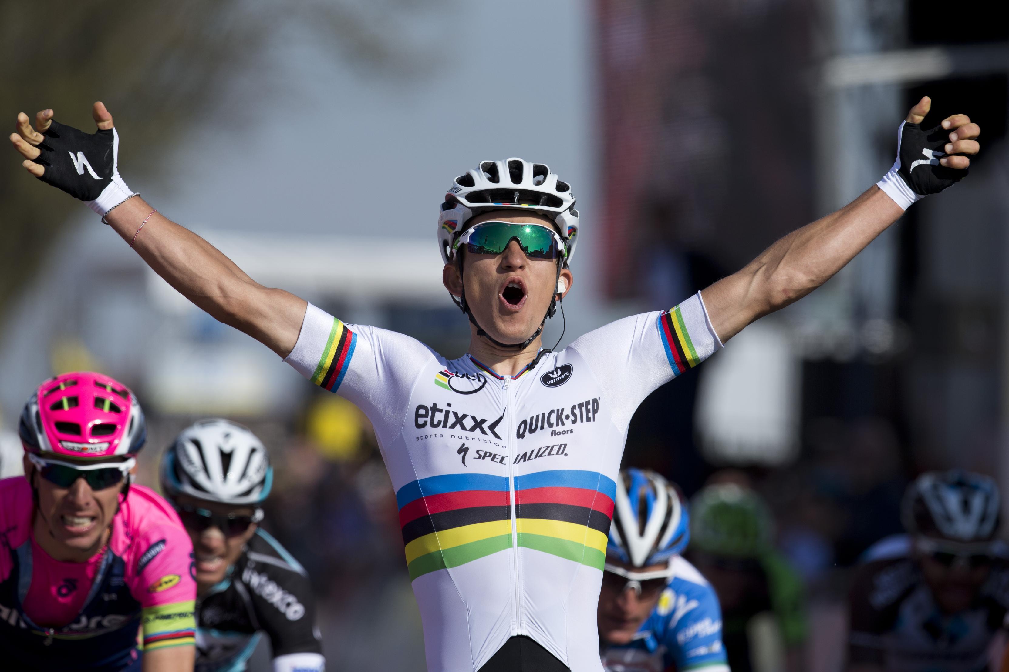 World champion Michal Kwiatkowski wins Amstel Gold Race
