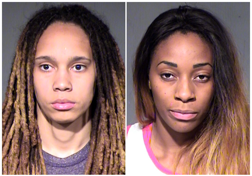 WNBA's Griner, fiancee Glory Johnson arrested after fight