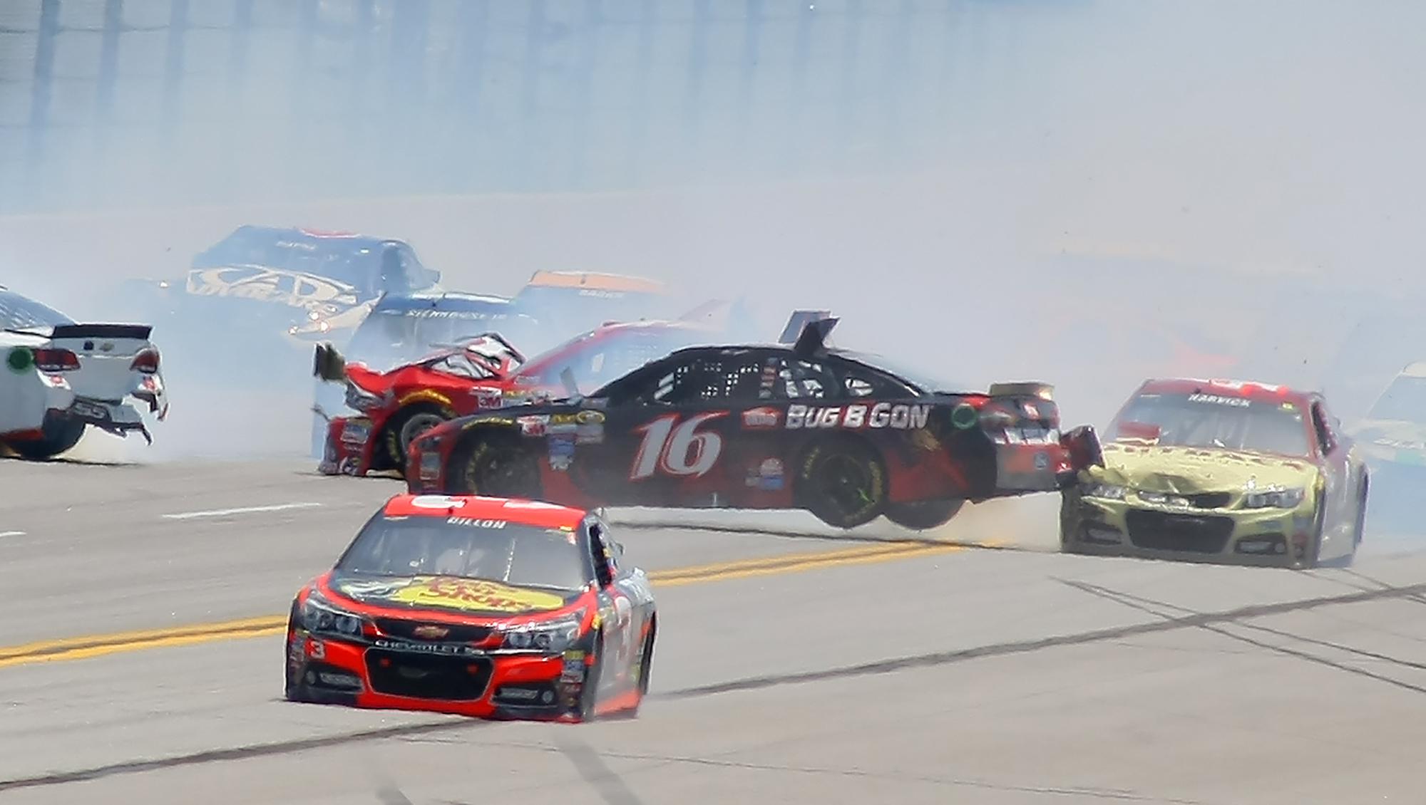 NASCAR briefly halts race after 15-car accident at Talladega