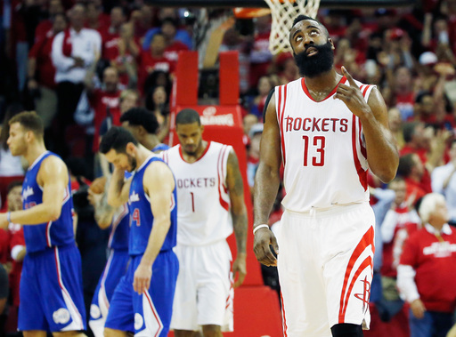 Harden has big 4th quarter; Rockets beat Clippers 115-109