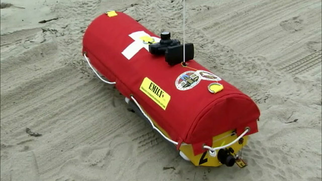 Robot Lifeguard 'Emily' Patrols the Beach