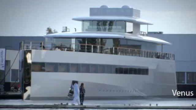 Steve Jobs' Yacht Makes Debut