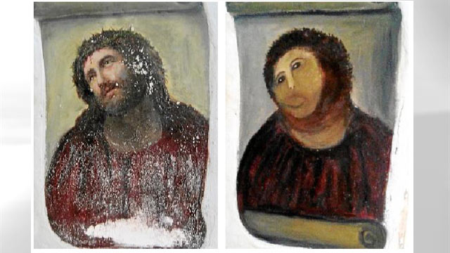 Badly Painted Picture Of Jesus