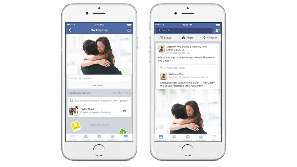 Facebook 'On This Day' Lets You Keep Track of Your History