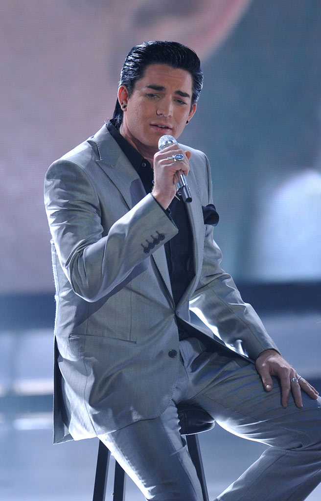 "Adam Lambert performs ""Tracks of My Tears"" by Smokey Robinson and the Miracles on ""American Idol."""