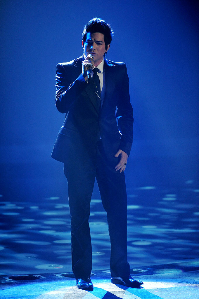 "Adam Lambert performs ""If I Can't Have You"" by Yvonne Elliman on ""American Idol."""