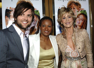Premiere: Adam Scott, Wanda Sykes and Jane Fonda at the Westwood premiere of New Line Cinema's Monster-In-Law - 4/29/2005