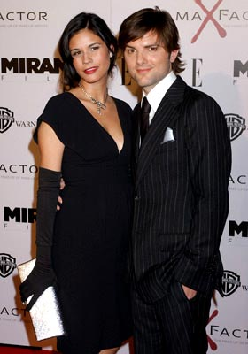 Premiere: Naomi Sablan and Adam Scott at the Hollywood premiere of Miramax Films' The Aviator - 12/1/2004