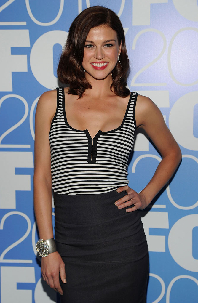 "Adrianne Palicki (""Lonestar"") attends the 2010 Fox Upfront after party at Wollman Rink, Central Park on May 17, 2010 in New York City."