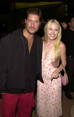 Premiere: Sean Kanan and Adrienne Frantz at the premiere of Regent's Speedway Junky - 8/27/2001