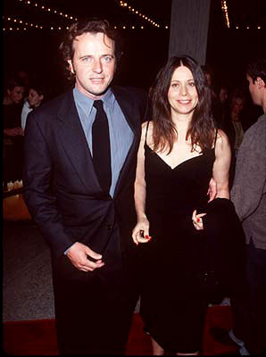 Premiere: Aidan Quinn and gal at the Century City premiere of Warner Brothers' Practical Magic - 10/13/1998