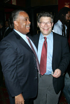 Premiere: Rev. Al Sharpton and Al Franken at the New York screening of Lions Gate Films' Fahrenheit 9/11 - 6/14/2004