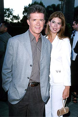 Premiere: Alan Thicke with a fine-lookin' woman at the Hollywood premiere of Paramount's The Original Kings of Comedy - 8/10/2000