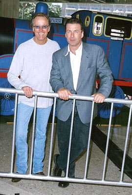 Premiere: Peter Fonda and Alec Baldwin at the Century City premiere of  Destination Films' Thomas and The Magic Railroad - 7/22/2000