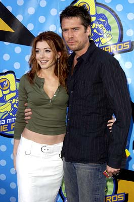 Alyson Hannigan and Alexis Denisof MTV Movie Awards - 5/31/2003