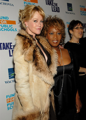 Premiere: Melanie Griffith and Alfre Woodard at the NY premiere of New Line Cinema's Take the Lead - 4/4/2006