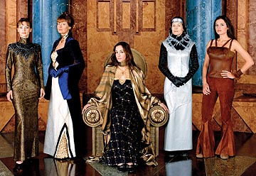 Left to Right: Julie Cox as Irulan, Susan Sarandon as Wensicia, Daniela Amavia as Alia, Alice Krige as Lady Jessica and Barbara Kodetova as Chani Sci-Fi Network's Children of Dune