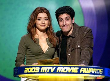Alyson Hannigan and Jason Biggs MTV Movie Awards - 5/31/2003