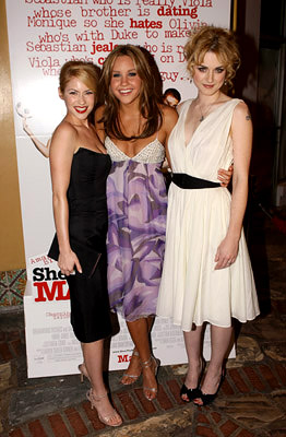 Premiere: Laura Ramsey, Amanda Bynes and Alex Breckenridge at the LA premiere of Dreamworks' She's the Man - 3/8/2006