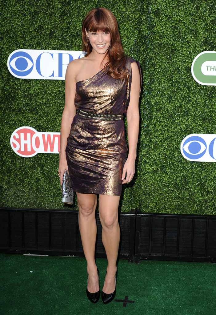 """The Mentalist's"" Amanda Righetti arrives at the TCA Summer 2010 CBS/The CW/Showtime ""Star Party in the Tent"" on July 28, 2010 in Beverly Hills, California."