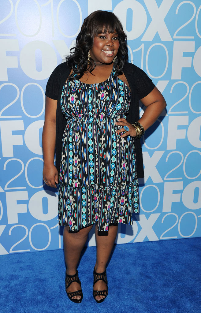 "Amber Riley (""Glee"") attends the 2010 Fox Upfront after party at Wollman Rink, Central Park on May 17, 2010 in New York City."