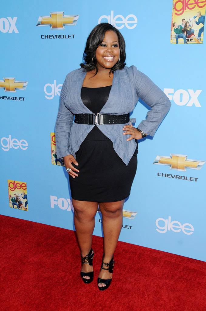 "Amber Riley attends the ""Glee"" Season 2 Premiere Screening and DVD Release Party at Paramount Studios on September 7, 2010, in Hollywood."