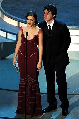 Amber Tamblyn and Zach Braff Presenters for Outstanding Supporting Actress in a Drama Series Emmy Awards - 9/19/2004