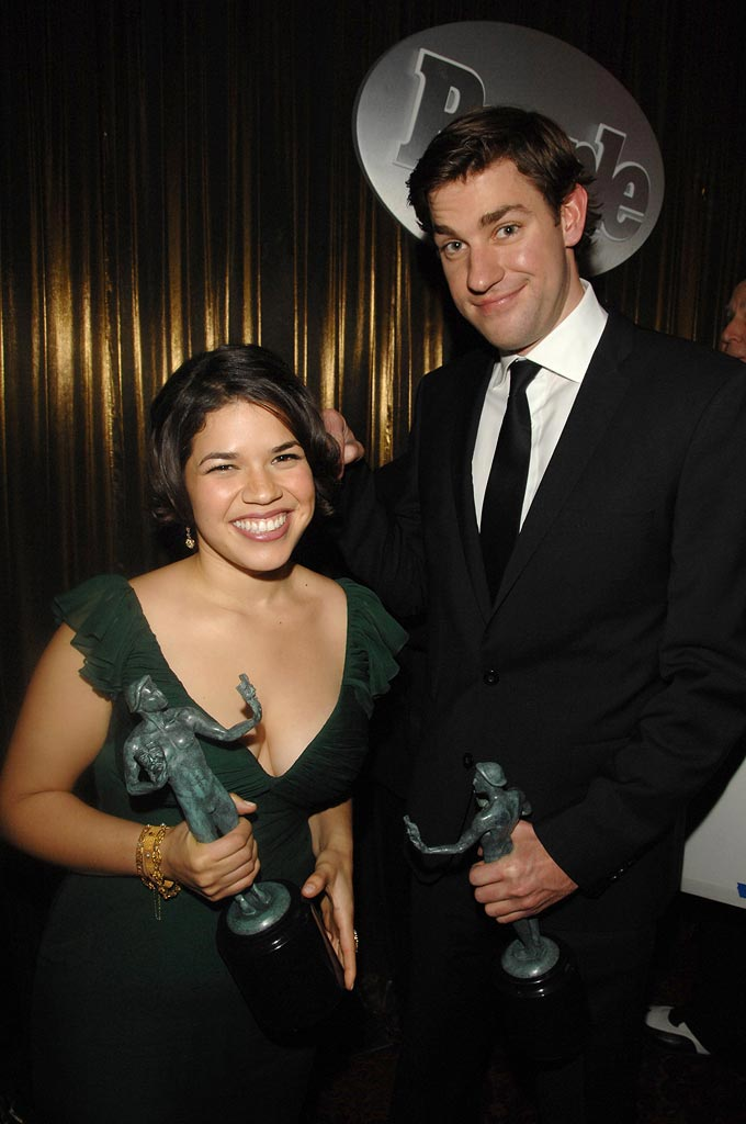 America Ferrera and John Krasinski at the 13th Annual Screen Actors Guild Awards. -  January 28, 2007