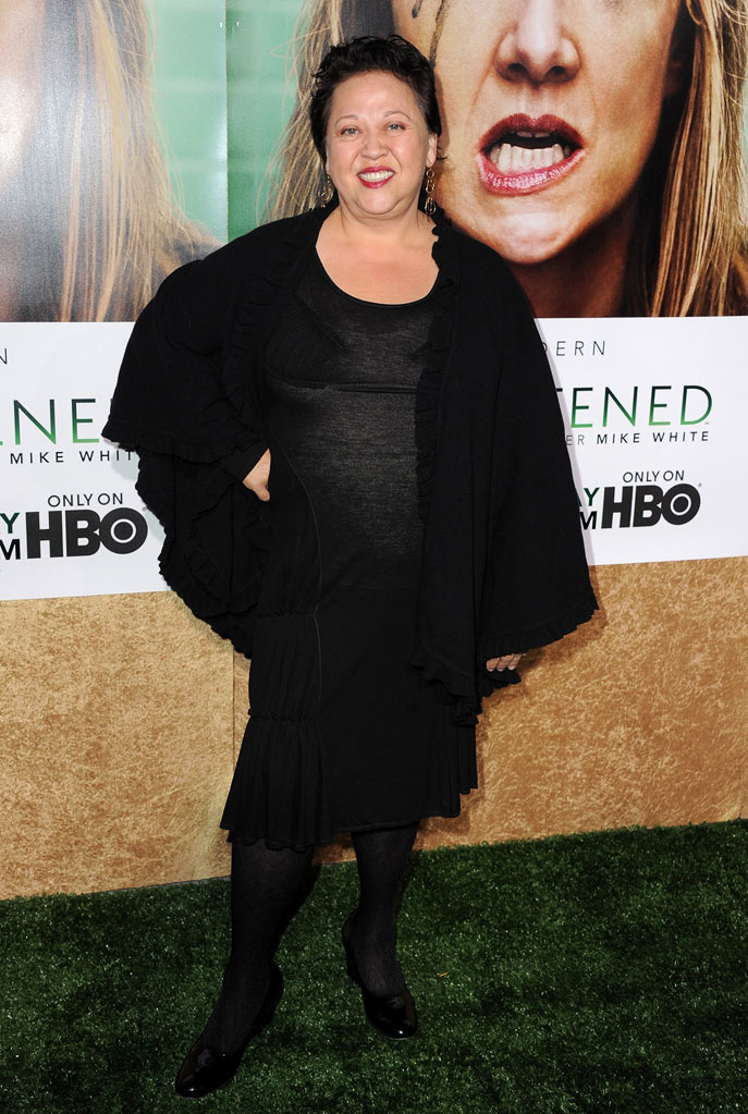 "Amy Hill arrives at the premiere of HBO's ""Enlightened&quot at Paramount Theater on October 6, 2011 in Hollywood, California."