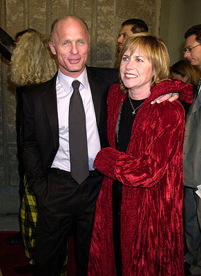 Premiere: Ed Harris and Amy Madigan at the Beverly Hills premiere of A Beautiful Mind - 12/13/2001