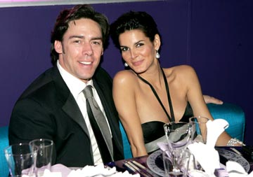 Jason Sehorn and Angie Harmon InStyle/Warner Bros. Golden Globes Party The Palm Court at the Beverly Hilton - Beverly Hills, CA - 1/16/05