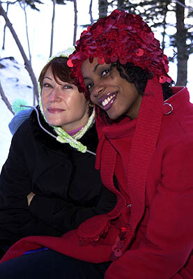 Ann Magnuson and Aunjanue Ellis of The Caveman's Valentine Sundance Film Festival Day 3 Park City, Utah 1/20/2001