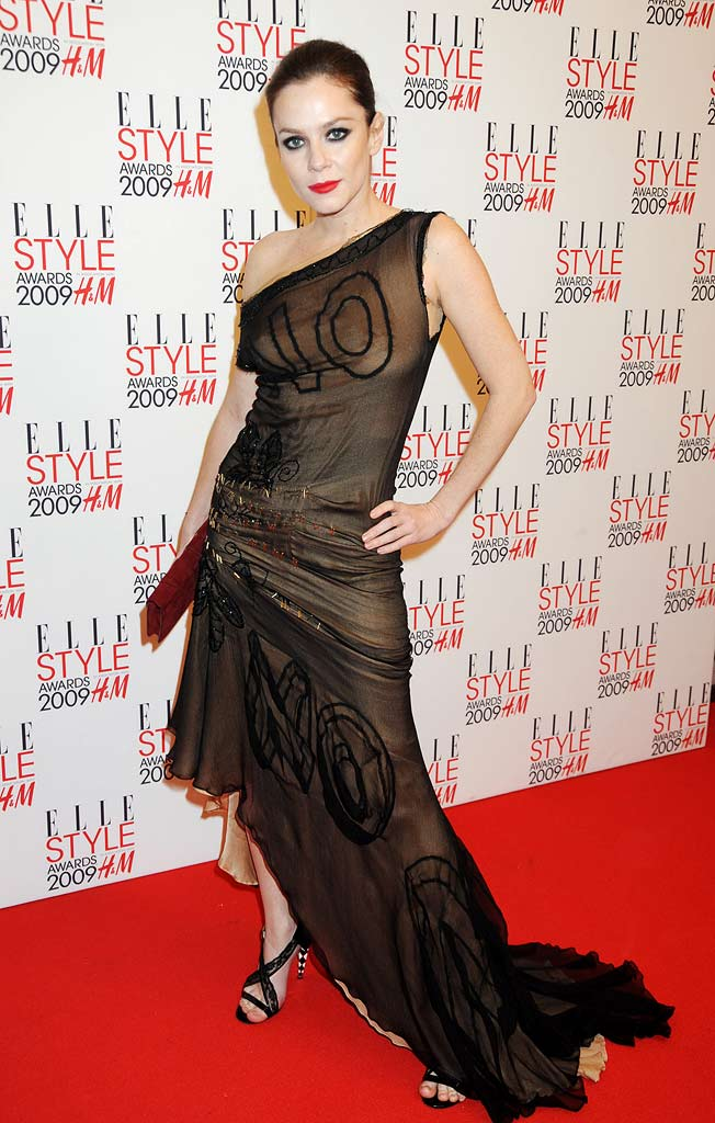 Anna Friel arrives at the ELLE Style Awards 2009 in association with H&M, at Big Sky London on February 9, 2009 in London, England.