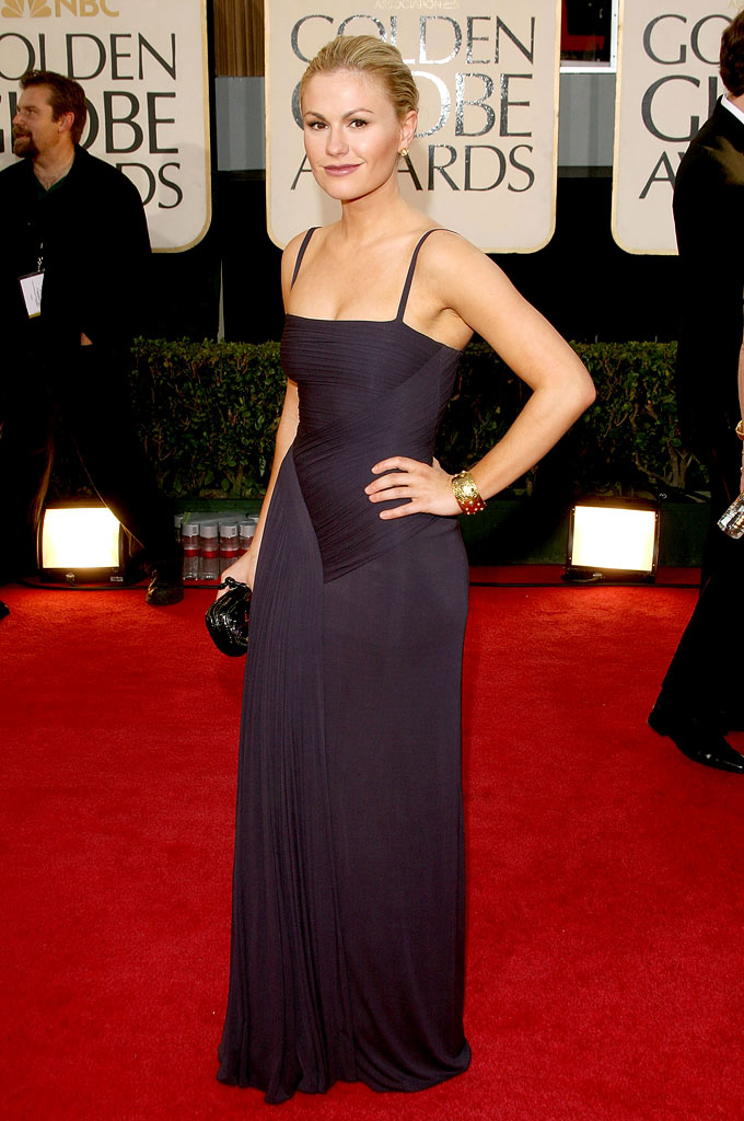 Anna Paquin arrives at the 66th Annual Golden Globe Awards held at the Beverly Hilton Hotel on January 11, 2009 in Beverly Hills, California.
